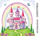fairy tale castle for princess  ... | Shutterstock .eps vector #1600929802