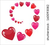 valentine's background with... | Shutterstock .eps vector #160093082