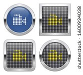 dotted icon of video camera on... | Shutterstock . vector #1600934038