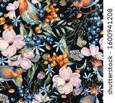 gentle watercolor seamless... | Shutterstock . vector #1600941208