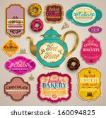 vintage set of grunge stickers  ... | Shutterstock .eps vector #160094825
