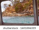 Rocky Coastal Shoreline With...