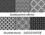 seamless pattern collection.... | Shutterstock .eps vector #1601016928