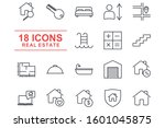 real estate set icon template... | Shutterstock .eps vector #1601045875