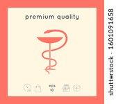 pharmacy symbol medical snake... | Shutterstock .eps vector #1601091658