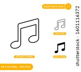 music note icons set vector...