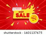 hot sale discount banner... | Shutterstock .eps vector #1601137675