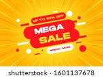 mega sale discount banner... | Shutterstock .eps vector #1601137678