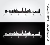 oxford skyline and landmarks... | Shutterstock .eps vector #1601189452