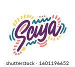 scusa. hand lettering word in... | Shutterstock .eps vector #1601196652