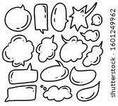 hand drawn speech bubble comic...   Shutterstock .eps vector #1601249962