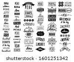 menu headlines  handwriting...   Shutterstock .eps vector #1601251342