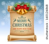 merry christmas greeting card... | Shutterstock .eps vector #160126868