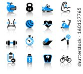 fitness icons | Shutterstock .eps vector #160127765