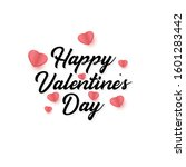 valentines day greeting card... | Shutterstock .eps vector #1601283442