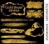calligraphy paint brush. grungy ... | Shutterstock .eps vector #1601303722