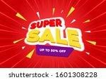 sale banner template design ... | Shutterstock .eps vector #1601308228
