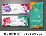 vertical and horizontal banner... | Shutterstock .eps vector #1601309392