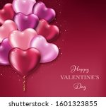 valentines day background with... | Shutterstock .eps vector #1601323855