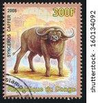 congo   circa 2008  stamp... | Shutterstock . vector #160134092