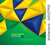 vector geometric background in... | Shutterstock .eps vector #160137935