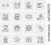 16 universal business icons... | Shutterstock .eps vector #1601380255