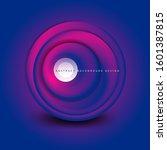 vector swirl circle banner  3d... | Shutterstock .eps vector #1601387815