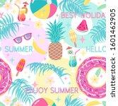 colorful summertime seamless... | Shutterstock .eps vector #1601462905