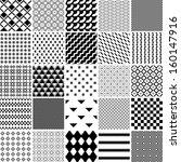 monochrome seamless patterns... | Shutterstock .eps vector #160147916