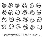 expression set of various people | Shutterstock .eps vector #1601480212