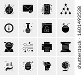 16 universal business icons... | Shutterstock .eps vector #1601493538