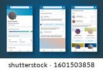 mobile app interface inspired...   Shutterstock .eps vector #1601503858