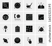 16 universal business icons... | Shutterstock .eps vector #1601521195