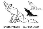 vector monochrome image of... | Shutterstock .eps vector #1601552035