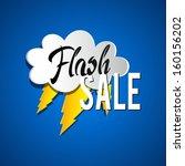 flash sale vector illustration | Shutterstock .eps vector #160156202