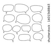 cartoon dialogs cloud line...   Shutterstock .eps vector #1601568865