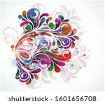 butterfly in colors abstract... | Shutterstock .eps vector #1601656708