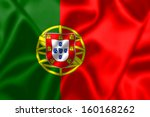 portugal flag blowing in the... | Shutterstock . vector #160168262