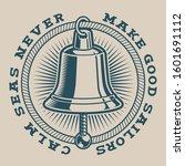 vector illustration of a bell... | Shutterstock .eps vector #1601691112