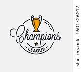 champions league logo. round... | Shutterstock .eps vector #1601726242