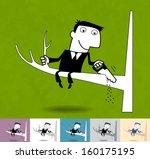 bad idea. business illustration ...   Shutterstock .eps vector #160175195