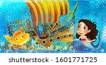 cartoon ocean scene and the...   Shutterstock . vector #1601771725