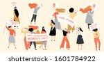 set of vector images for... | Shutterstock .eps vector #1601784922