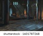 Castle. 3d Illustration. Hall...