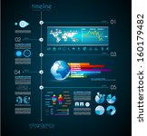 timeline to display your data... | Shutterstock .eps vector #160179482