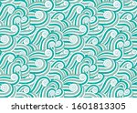 wave seascape vector seamless... | Shutterstock .eps vector #1601813305