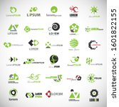 abstract element icon set.... | Shutterstock .eps vector #1601822155