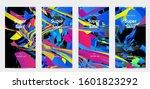 abstract social media template...   Shutterstock .eps vector #1601823292