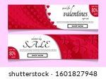 valentines day sale background...   Shutterstock .eps vector #1601827948