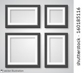 photo frame on a white... | Shutterstock .eps vector #160185116